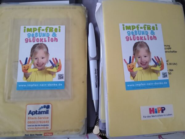 """Aufkleber """"impf-frei, gesund & glücklich"""""""