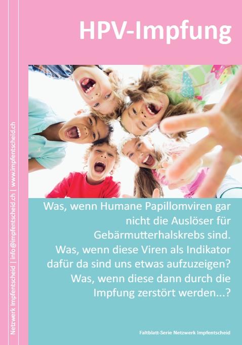 """Flyer: HPV-Impfung (""""Gebärmutterhalskrebs"""")"""