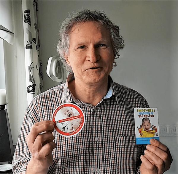 Set Schwarzbuch Impfen mit Aufklebern + Etiketten (wählbar)
